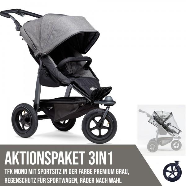 TFK Mono Sport Aktionspaket 3in1 Premium Grau