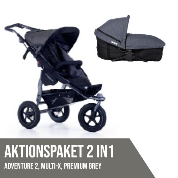 TFK Adventure 2 Premium Grey Aktionspaket 2in1