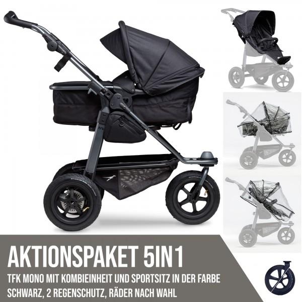 TFK Mono Kombi- & Sport-Aktionspaket 5in1 schwarz