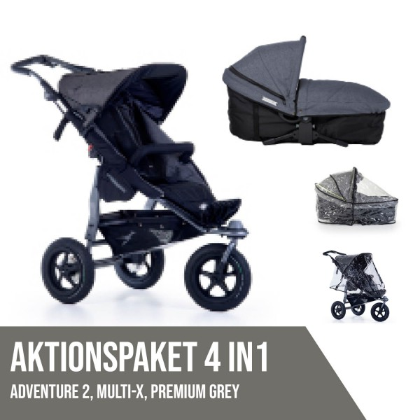 TFK Adventure 2 Premium Grey Aktionspaket 4in1
