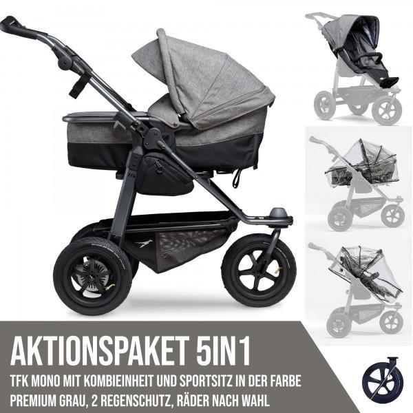 TFK Mono Kombi- & Sport-Aktionspaket 5in1 Premium Grau